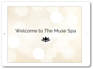 Muse Spa Welcome Pack iPad